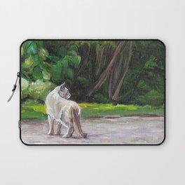 Cat Adventure by the Hydrangea &Trees Laptop Sleeve