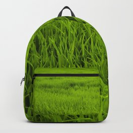 SCENERY 95 - Green Grass Field Outdoor Land Lawn Backpack