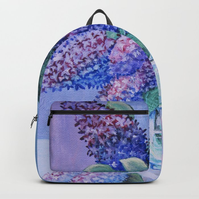 flowers in a glass vase Backpack