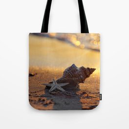 Golden Summer on the Beach Tote Bag