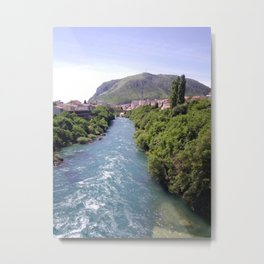 River and Hill Metal Print