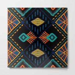 African culture batik pattern for fine decoration Metal Print