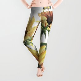 Sunflowers and Honey Bees Leggings