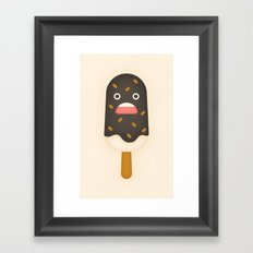 Chocolate Ice Cream Bar Framed Art Print