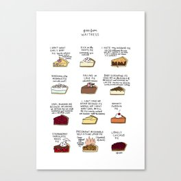 Waitress Pies Canvas Print