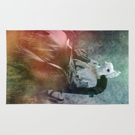 White Peacock Rug
