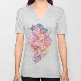 Flowers Illustration Art Unisex V-Neck