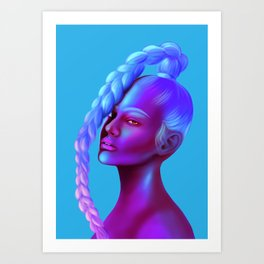 Braided Queen Art Print