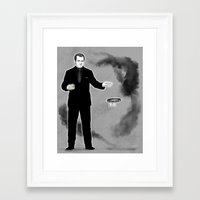 crowley Framed Art Prints featuring Crowley by Alatherna