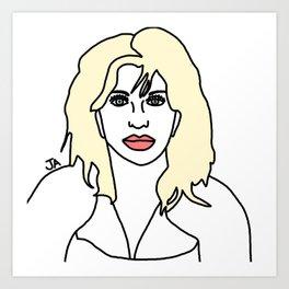 Courtney Love of Hole Art Print