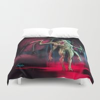 spawn Duvet Covers featuring cursed by Yoncho Yonchev