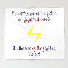 fight in the girl Throw Blanket