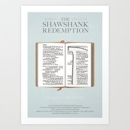 The Shawshank Redemption - minimal poster Art Print