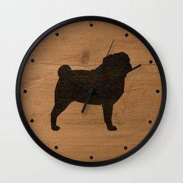 Pug Silhouette(s) Wall Clock