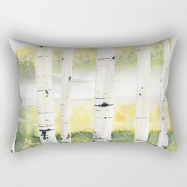 Behind The Birch Trees Rectangular Pillow