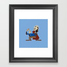 Evil Fighting Ash  Framed Art Print
