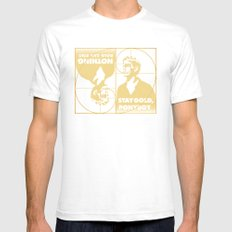 Stay (Nothing Gold Can Stay) Ponyboy Mens Fitted Tee White SMALL