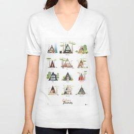 Cabins Diaries Unisex V-Neck