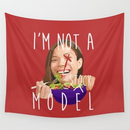 i'm not a (stock) model Wall Tapestry