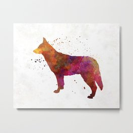 Saarloos Wolfdog in watercolor Metal Print