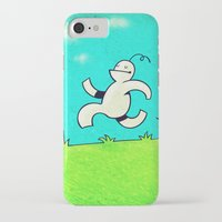 running iPhone & iPod Cases featuring Running... by MaComiX