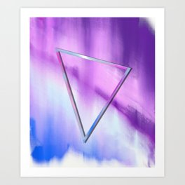 Floating Triangle (abstract art) Art Print