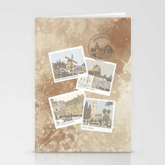 vintage jerusalem Stationery Cards