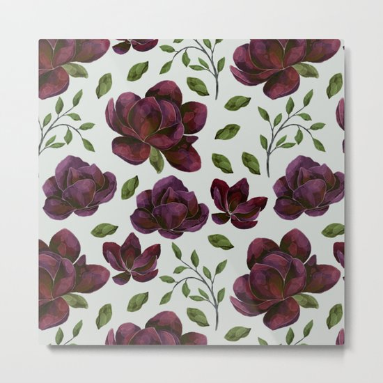 Forest Meadow Rose Metal Print