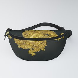 golden dragon on black Fanny Pack