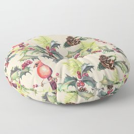 Repeating Pinecone Pattern Floor Pillow