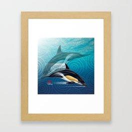 DW-031 Dolphin Dance Framed Art Print