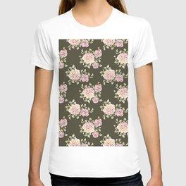 rose cluster pattern T-shirt