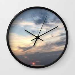 The Sun Sleeps Wall Clock