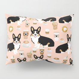 Welsh Corgi tri colored coffee lover dog gifts for corgis cafe latte pupuccino corgi crew Pillow Sham