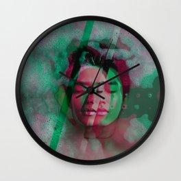 3d portrait in the bath Wall Clock
