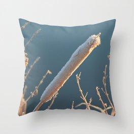 Frozen Bullrush Throw Pillow