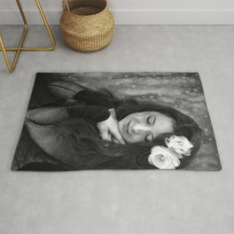 It's snowing - PENCIL DRAWING Rug