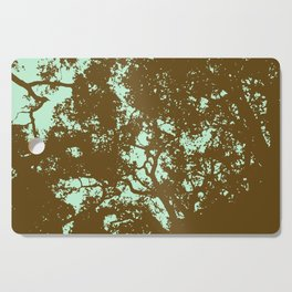 Mint and Brown Forest Cutting Board