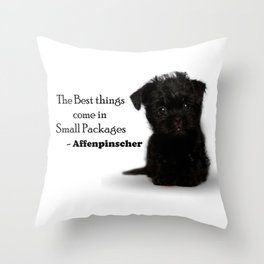 Affenpinscher Puppy Love Throw Pillow