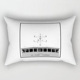"""Boat to """"Ile d'Aix"""" Rectangular Pillow"""