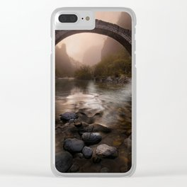 Bridge girl Clear iPhone Case