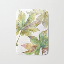 Aralia japonica Leaves Foliage Bath Mat