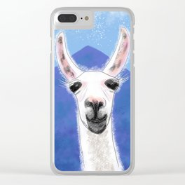 Llama Yama Smiling Clear iPhone Case