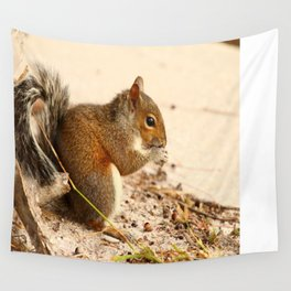 Squirrels Meal Wall Tapestry