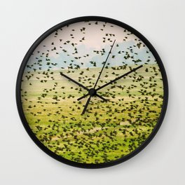 A Flock of Freedom Wall Clock