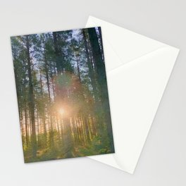 Scottish forest watercolor painting #7 Stationery Cards