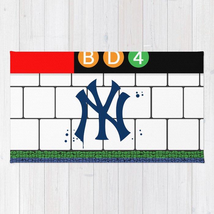 NYC Yankees Subway Rug