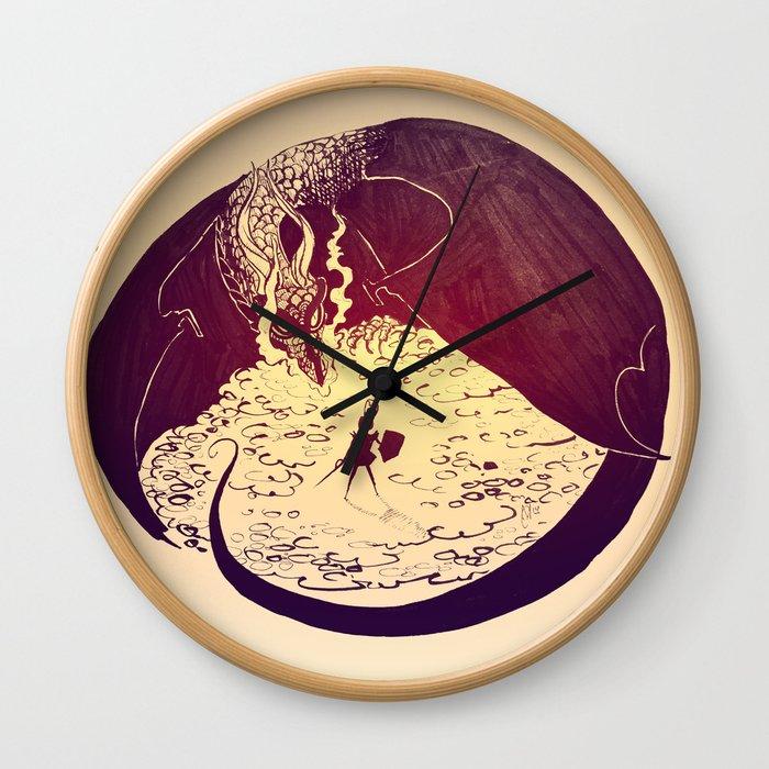 Defensive Dragon Wall Clock