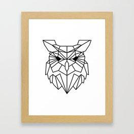 Owl B&W Framed Art Print