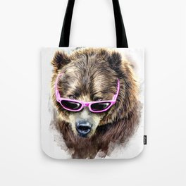 Cool shy bear Tote Bag